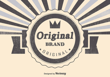 Retro Original Brand Illustration - Free vector #383031
