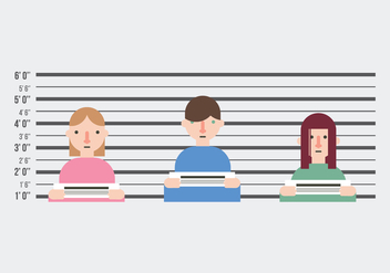 People on a Mugshot - vector gratuit #383131