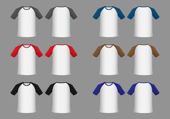 Free Raglan Short Sleeve T-shirt Template Vector - Free vector #383551