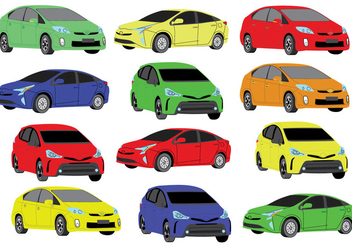 Free Prius Colour Icons - Free vector #383661