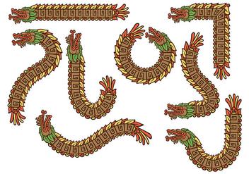 Mexican Quetzalcoatl Vectors - Free vector #383801