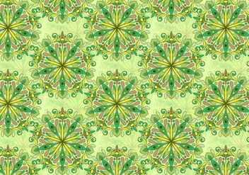 Green Vector Colorful Mandala Pattern - Kostenloses vector #383941