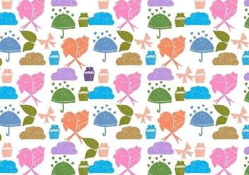 Free Vector Love Birds Doodle Background - Free vector #383951