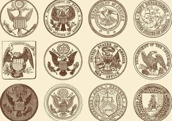 Seals Of USA - vector gratuit #383981