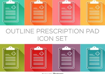 Vector Prescription Pad Icon Set - Free vector #384031
