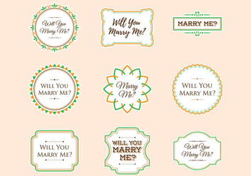 Free Marry Me Sign Ornament Sticker Vector - бесплатный vector #384261