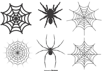 Spiders and Webs Vector Set - Free vector #384451