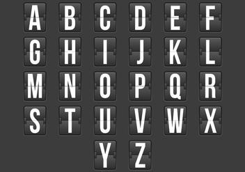 Flip Clock Alphabet - Kostenloses vector #384571