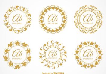 Free Vector Elegant Floral Monograms - Free vector #384581