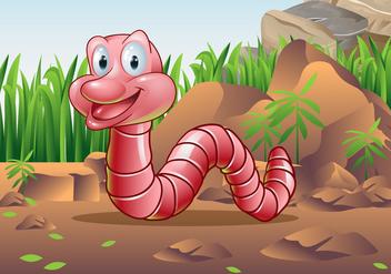 Earthworm Character Vector - Kostenloses vector #385011