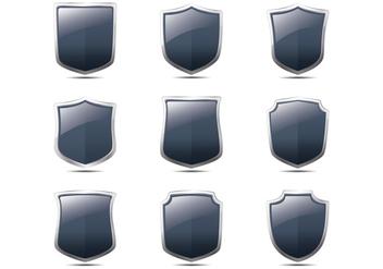 Realistic Blason Shield Shape Vectors - Free vector #385041