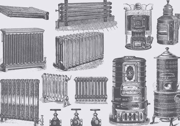 Vintage Radiators - vector gratuit #385241