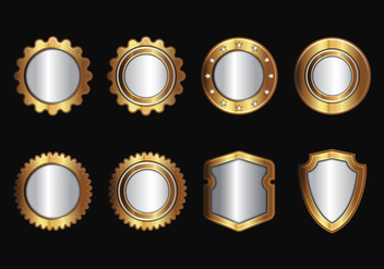 Free Gold Realistic Seal and Badges Vector - Free vector #385261