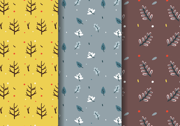 Free Fall Trees Pattern Vector - Free vector #385321