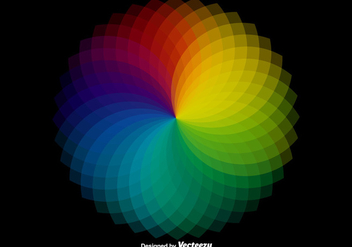 Vector Wheel Color Sampler - vector gratuit #385751