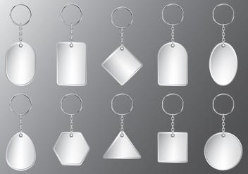 Plastic Keychain Set - vector #385851 gratis
