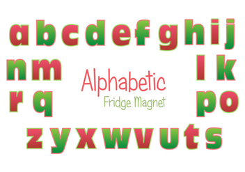 Fridge Magnet Alphabet Vector Set - vector gratuit #385981