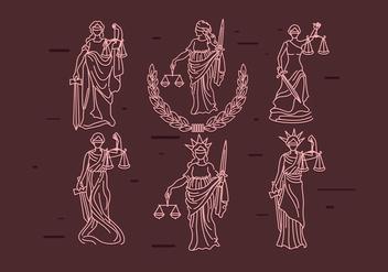 Lady Justice Vector - Kostenloses vector #386061
