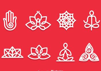 Yoga Meditation Symbol Vector - Kostenloses vector #386241