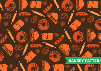 Bagel Bakery Pattern Vector - бесплатный vector #386261