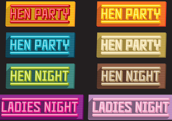Hen Party Volume Titles - бесплатный vector #386281