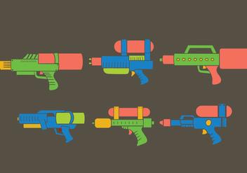 Water Gun Vector - Kostenloses vector #386331
