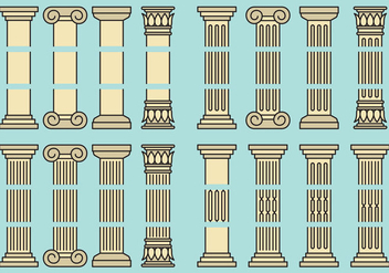 Editable Pillars - Free vector #386381