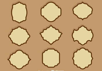 Brown Cartouche Vector Set - Free vector #386421