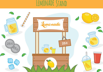 Free Lemonade Stand Vector - бесплатный vector #386561