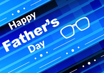Free Vector Blue Color Father's Day Background - Free vector #386601