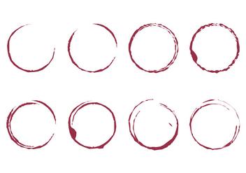 Wine Stain Vector - бесплатный vector #386821