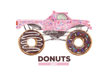 Free Donuts Watercolor Vector - бесплатный vector #386851