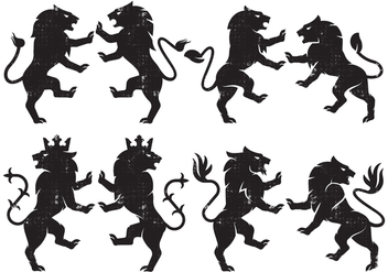 Heraldry Lion - бесплатный vector #386911