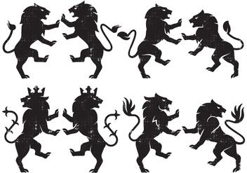 Heraldry Lion - Free vector #386911