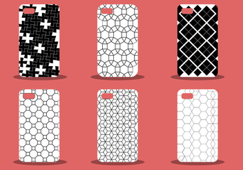 Trendy Phone Case Pattern Vector Set - Free vector #387301