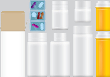 Prescription Pill Packs - Free vector #387421