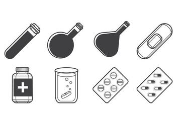 Free Medicine Icon Vector - Kostenloses vector #387461