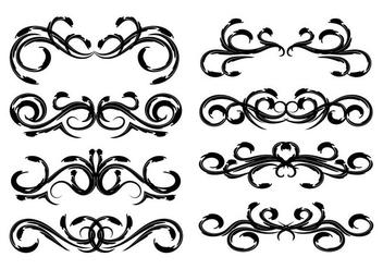 Free Vintage Floral Decoration Vector - Free vector #387531