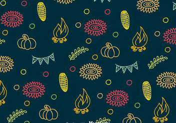 Festa Junina Colorful Pattern - Free vector #387851