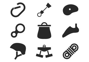 Climbing Icons - бесплатный vector #387871