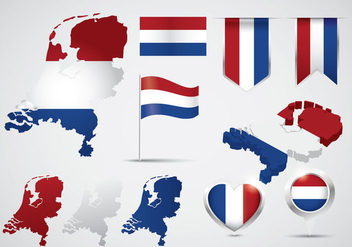 Free Netherlands Map - Kostenloses vector #387981