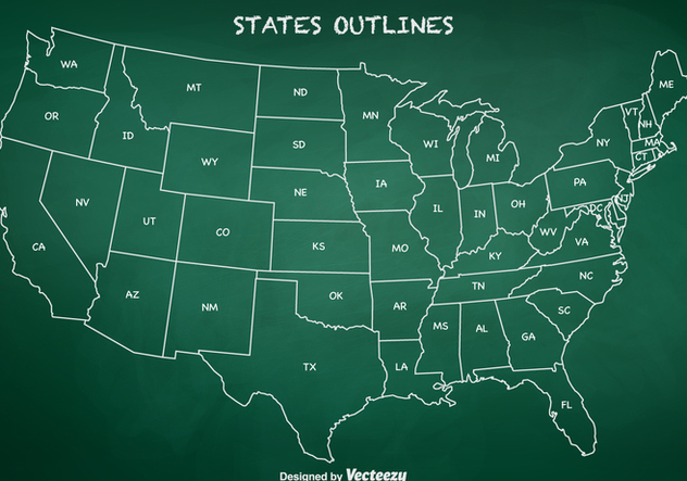 Free State Outlines Vector - Free vector #388011