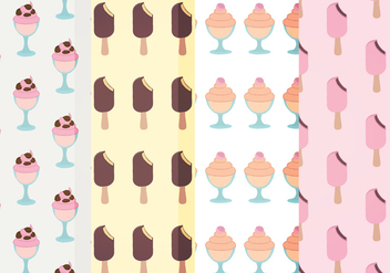 Vector Ice Cream Patterns - Free vector #388031