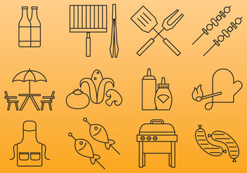 Grill And Bbq Icons - vector #388081 gratis
