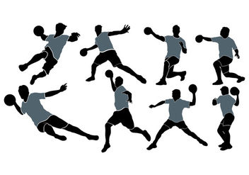 Dodgeball Player Silhouette Vectors - Free vector #388191