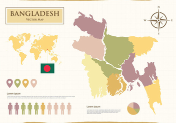 Bangladesh Map Illustration - Free vector #388291