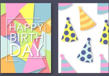 Free Happy Birthday Card Vector - vector gratuit #388511