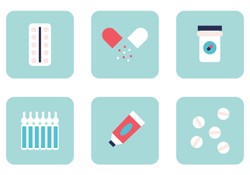 Set of Medicines - vector #388641 gratis