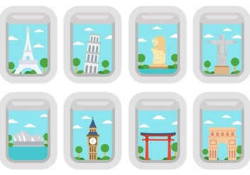 Free Travel Around The World Vector - бесплатный vector #388751