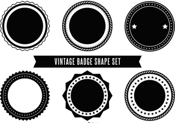Blank Retro Vector Badges - Free vector #388821